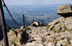 Trail in Karkonosze mouintains Stock Photo