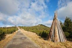 Trail in Karkonosze Mountains Stock Images