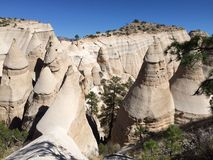 Trail through Kasha-Katuwe Tent Rocks National Monument royalty free stock image