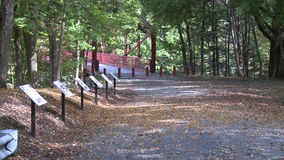 Trail leading across bridge (6 of 6). A view or scene of Parks and recreation stock footage
