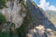 Trail leading to Inca Bridge at Machu Picchu, Peru Stock Image