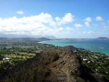 Trail leading to Kailua, O'ahu, Hawai'i Royalty Free Stock Image
