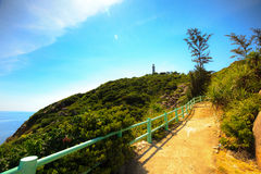 The trail leading to the lighthouse Royalty Free Stock Images