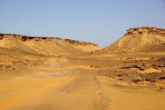 Trail in Libyan desert Royalty Free Stock Image