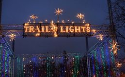 Trail of Lights banner royalty free stock images
