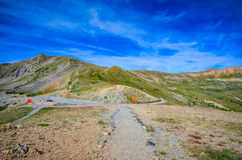 Trail - Loveland Pass - Colorado. Hiking trail to peak at Loveland Pass, a high mountain pass in the western United States, at an elevation of 11,990 feet 3,655 Stock Image