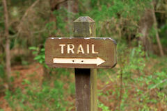 Trail marker Royalty Free Stock Image