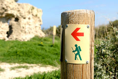 Trail marker Royalty Free Stock Images