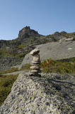 Trail marker or cairn Stock Image
