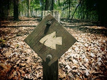 Trail Marker Stock Photo