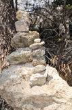 Trail Marker: Mound of Stones Stock Photos