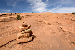 Trail marker rock pile Stock Images