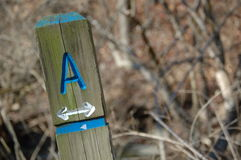 Trail Marker A Stock Photo