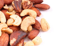 Trail Mix. Close Up On White stock photography