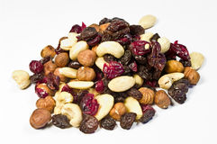 Trail mix. Several sorts of nuts and dried fruits Royalty Free Stock Image
