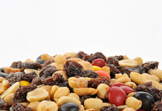 Trail mix background Royalty Free Stock Photo