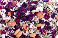 Trail mix with dried fruit Royalty Free Stock Images