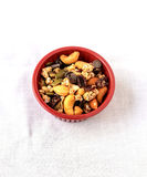 Trail Mix of dry fruits and chocolate chips Royalty Free Stock Images