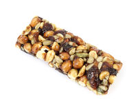 Trail mix energy bar Royalty Free Stock Photos