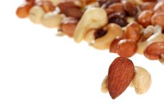 Trail mix nuts Stock Image