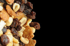 Trail Mix with Nuts and Raisins Stock Images