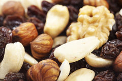Trail mix nuts and raisins Stock Images