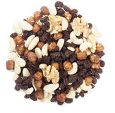 Trail mix nuts and raisins Royalty Free Stock Photo