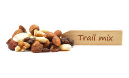 Trail mix at plate Stock Images