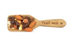 Trail mix on shovel Royalty Free Stock Photo