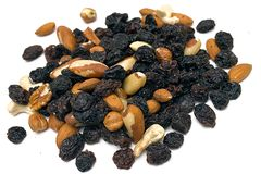 Trail Mix (Top View) Stock Images