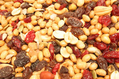 Trail mix upclose Royalty Free Stock Image