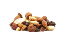 Trail mix on white Stock Photography