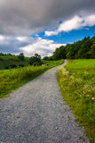Trail at Moses Cone Park, along the Blue Ridge Parkway in North Stock Photo