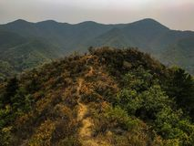 Mountain view. Trail mountain view fall beautiful fun high great colors mountains stock images