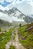 The trail in mountains Royalty Free Stock Images