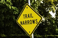Trail Narrows Sign Stock Photo