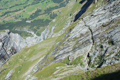 Trail nearby Grindelwald in Switzerland Royalty Free Stock Images