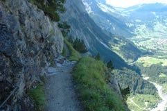 Trail nearby Grindelwald in Switzerland Stock Photo