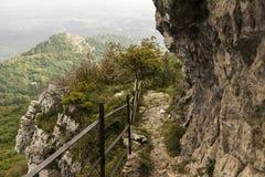 The trail north to the Campo dei Fiori Stock Image