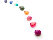 Trail Of Colorful Natural Gem Stones. Royalty Free Stock Photos