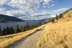 Trail by Okanagan lake Royalty Free Stock Photography