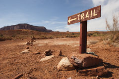 Trail panel in Monument Valley Royalty Free Stock Image