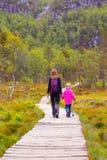 Trail on  Preikestolen Royalty Free Stock Image