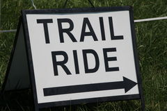 Trail Ride sign Stock Photos