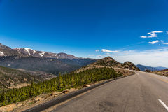 Trail Ridge Road in Rocky Mountain National Park Royalty Free Stock Photo
