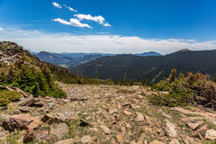Trail Ridge Road in Rocky Mountain National Park Royalty Free Stock Images