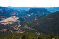 Trail Ridge Road, Rocky Mountain National Park Royalty Free Stock Photos
