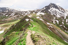 The trail on ridge. Royalty Free Stock Image