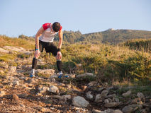 Trail runner exhausted Royalty Free Stock Images