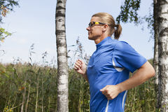 Trail runner in summer Stock Image